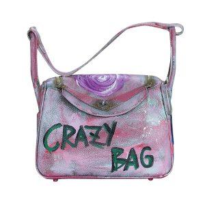 Designer Ledertasche rosa CRAZY BAG 01