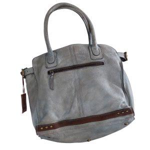Designer Lederhandtasche grau 03